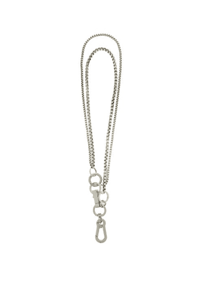 Martine Ali - Paolo Sterling Silver-plated Wallet Chain - Mens - Silver