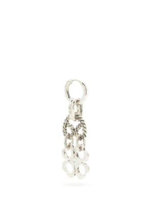 Martine Ali - Davis Patinated Chain-drop Silver-plated Earring - Mens - Silver