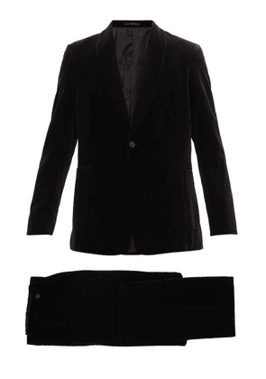 The Row - Alec Single-breasted Cotton-velvet Tuxedo Suit - Mens - Black