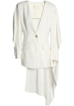 Antonio Berardi Cutout Draped Crepe Blazer Woman White Size 40