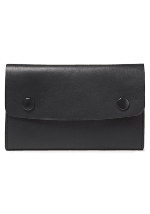 Ann Demeulemeester Leather Wallet Woman Black Size --