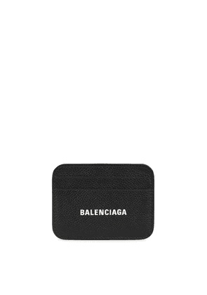 Balenciaga Black Logo Leather Card Holder