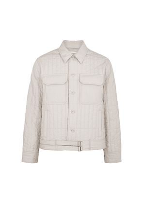 Helmut Lang Off-white Quilted Cotton Jacket
