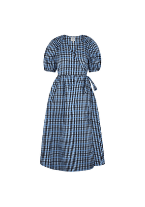 Baum Und Pferdgarten Adalaine Checked Taffeta Wrap Dress
