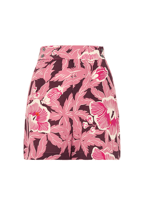Equipment Lyra Floral-print Brushed Silk Shorts