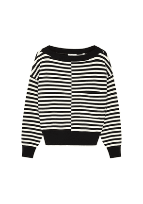 Equipment Bedelle Striped Stretch-knit Jumper