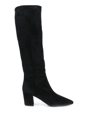 Prada pointed toe knee-high boots - Black