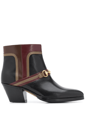 Gucci Horsebit panelled 60mm ankle boots - Black