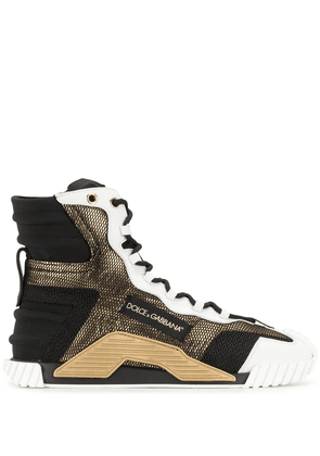 Dolce & Gabbana panelled high-top sneakers - Black