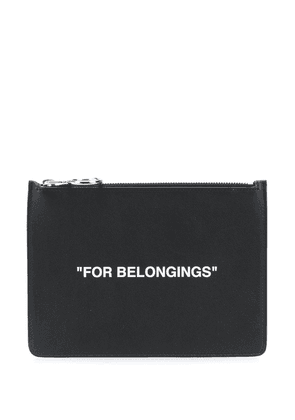 Off-White Quote zipped pouch - Black