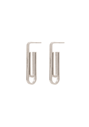 Off-White Paperclip earrings - SILVER
