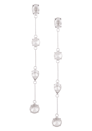 Oscar de la Renta crystal-embellished clip-on earrings - SILVER