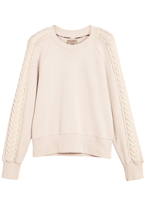 Burberry cable knit detail sweatshirt - PINK