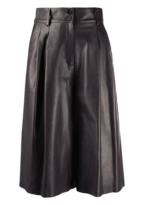 Dolce & Gabbana leather pleated culottes - Brown
