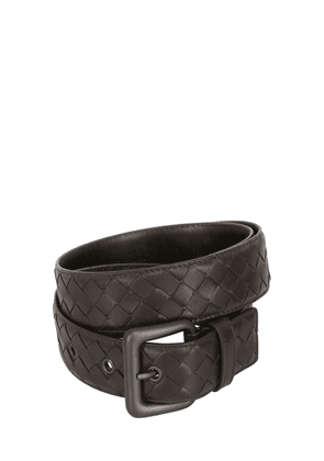 35mm Intrecciato Leather Belt