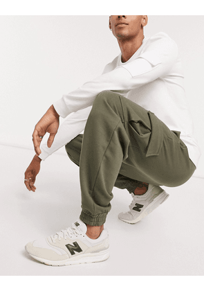 ASOS DESIGN oversized joggers with cargo pockets in khaki-Green