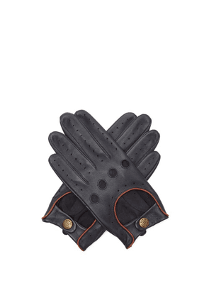 Dents - Delta Leather Driving Gloves - Mens - Navy
