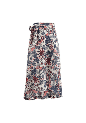 Scotch & Soda Midi Allover Printed Wrap Skirt