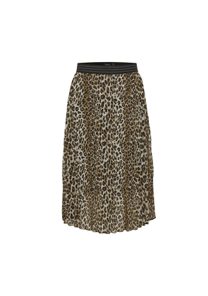 SOAKED IN LUXURY Eteri skirt LEOPARD