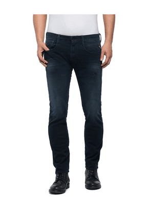 Replay Hyperflex Anbass Slim Fit Jean Dark Blue Colour: Dark Blue, Siz