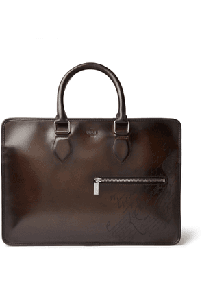 Berluti - Scritto Leather Briefcase - Men - Black