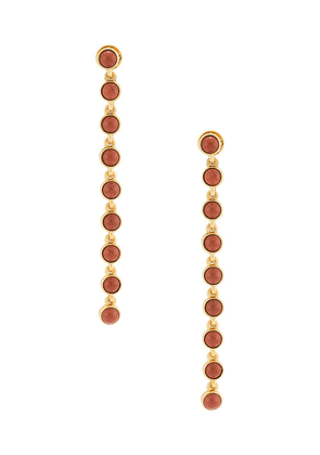 Oscar de la Renta red jasper drop earrings
