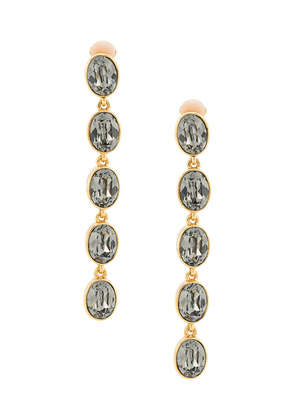 Oscar de la Renta five tier hanging earrings - GOLD