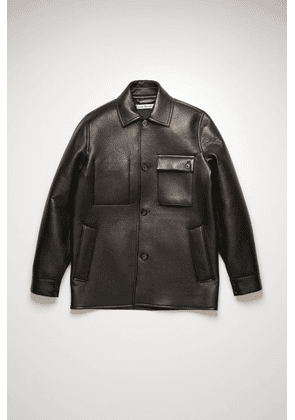 Acne Studios FN-MN-LEAT000101 Black  Leather chore jacket