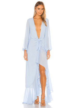 Michael Costello x REVOLVE Vienna Gown in Baby Blue. Size S,XS.
