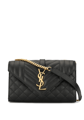 Saint Laurent small Envelope crossbody bag - Black