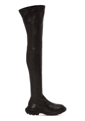 45mm Tread Leather Over-the-knee Boots