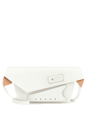 Snatched medium leather clutch