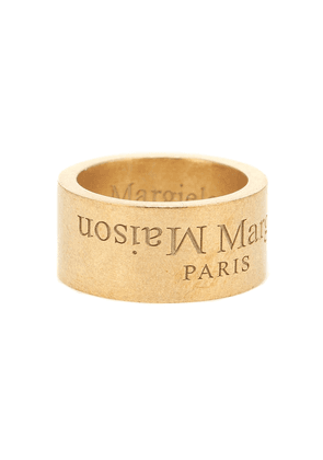 Logo gold-plated sterling silver ring