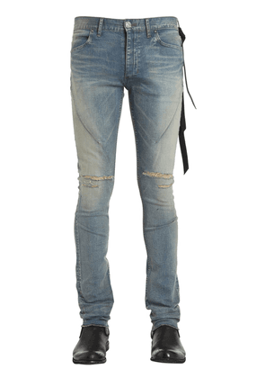 16cm Skinny Blue Washed Denim Jeans