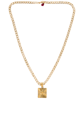 SHASHI Baroness Necklace in Metallic Gold.