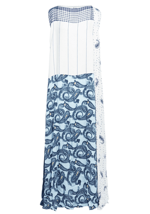 Acne Studios Jacquard-paneled Printed Voile Maxi Dress Woman Blue Size 36