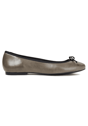 French Sole Lola Leather Ballet Flats Woman Dark gray Size 36.5
