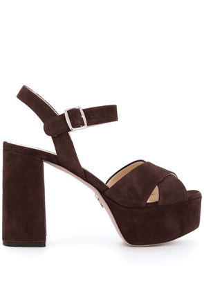 Prada chunky platform sandals - Brown