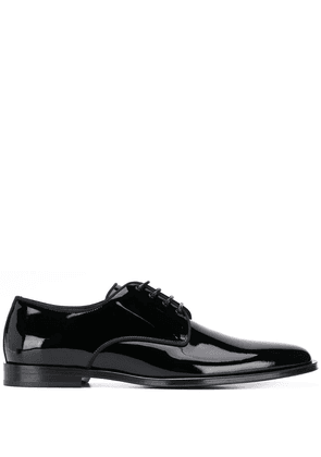 Dolce & Gabbana glossy Derby shoes - Black