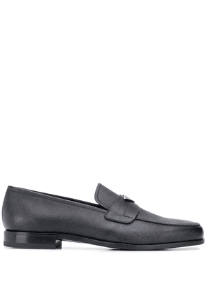 Prada logo loafers - Black