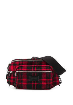 Saint Laurent Nuxx tartan belt bag - Black