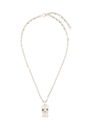 Off-White Arrows skull pendant necklace - SILVER
