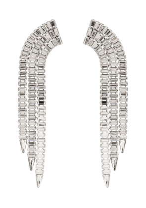 Gucci silver-tone crystal-embellished earrings