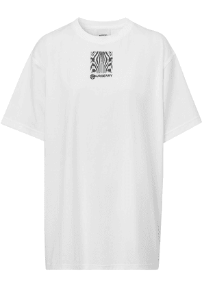 Burberry oversized Montage print T-shirt - White