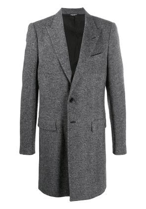 Dolce & Gabbana single-breasted wool coat - Black
