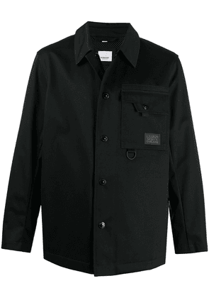 Burberry logo patch shirt jacket - Black