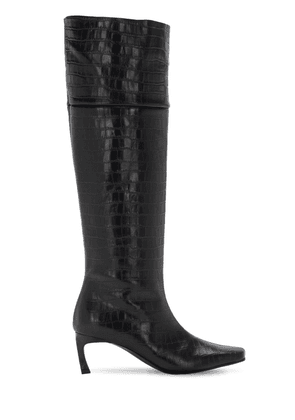 60mm Crocker Embossed Leather Tall Boots