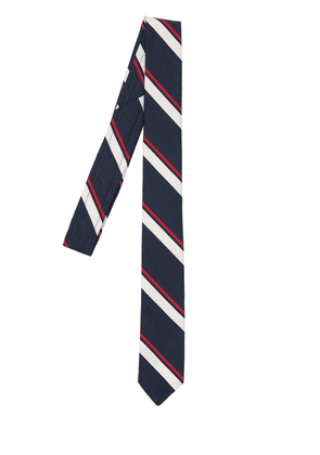 5cm Jacquard Stripe Silk & Cotton Tie