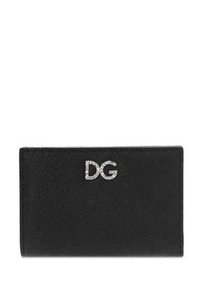 Dauphine Leather Wallet W/ Logo