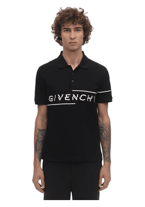 Slim Fit Logo Embroidered Polo Shirt